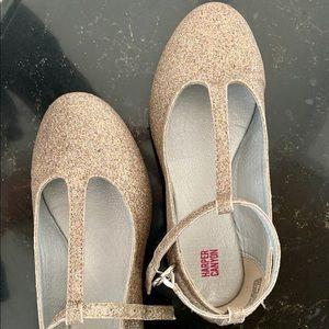 Girls dressy glitter shoes